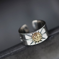 L&P Fashion Sunlight Totems Ring For Men&Women Retro personality 925 Sterling Silver Ring Jewelry For Women Gift