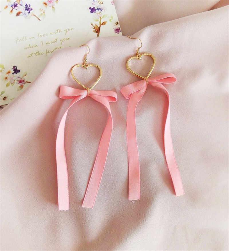 Boucles d'oreilles pendantes à la mode gland coeur boucles d'oreilles pendantes en dentelle glands boucles d'oreilles boucles d'oreilles accessoires pour femmes