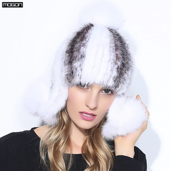 2018 venta real visón invierno sombrero de piel para las mujeres natural  genuino piña Cap sombreros rusos de la buena calidad de la manera gruesa  caliente ... 1414b0cf21ea
