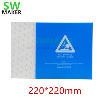 1pcs Heat Bed Sticker Hotbed Sheet tape blue 220*220/300*300mm For Wanhao i3 Anet A8 A6 3D Printer Printing Build Plateform image