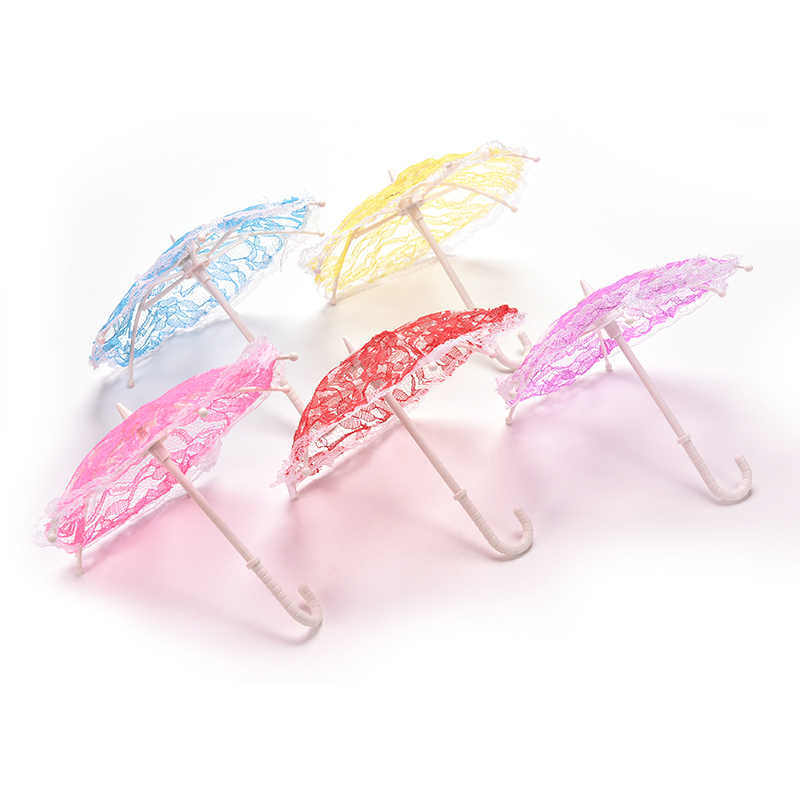 New Hot Beautiful Doll Accessories Lace Umbrella For  For s  Doll Gifts Colors Random