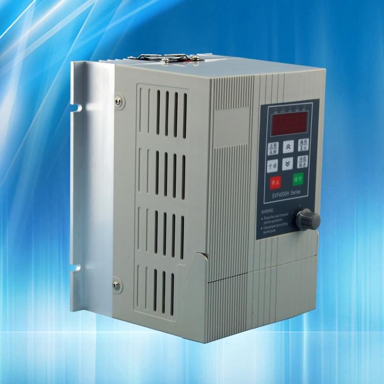 220 V ac onduleur 2.2KW cnc broche moteur VFD vitesse contrôleur 1 phase d'entrée 3 phase sortie 220 v gravure machine routeur