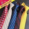 (10 Peças/lote) atacado Stripe 100% Seda Clássico Pescoço Laços Dos Homens Dot Carta Xadrez Sólida Festa de Casamento gravata Do Noivo Gravata XT200
