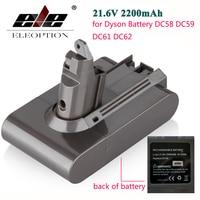 High Quality ELEOPTION 2200mAh 21 6V Li Ion Battery Replacement For Dyson Battery DC58 DC59 DC61