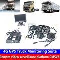 Hd Водонепроницаемая камера для автомобиля 4G GPS грузовик монитор набор 4CH Дистанционное видео наблюдение спутниковая система позиционирова...
