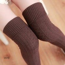 Beige Brown Red Gray Black Knee Socks Women Warm Thigh High Stockings Stocking 2019 Fashion Sexy Cotton Long Socks Winter Medias