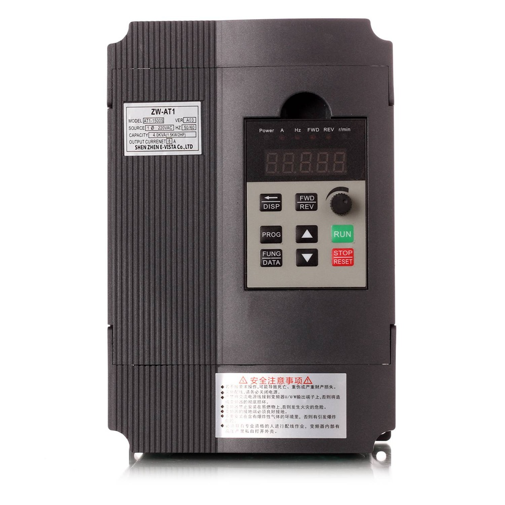 VFD Inverter 1 5KW 2 2KW 4KW Mini frequency Converter ZW AT1 3P 220V or 3P