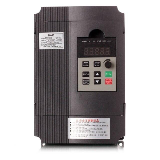 Falownik VFD 1.5KW/2.2KW/4KW Mini przetwornica częstotliwości ZW AT1 3P 220V lub potrójne Delta 380V wyjście z małą opłatą za wysyłkę Wyt3