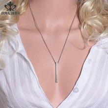 RoyalBeier 18 дюймов цепочка духи Арома диффузор Длинные ожерелья и подвески серебро Нержавеющая сталь сексуальные ювелирные изделия для женщин