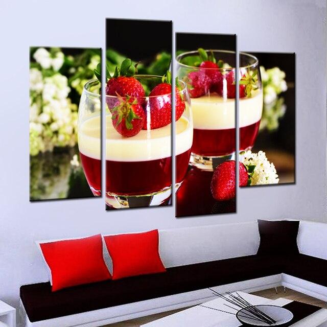 Drop Verschiffen Unframed Obst Erdbeere Leinwand Malerei Moderne