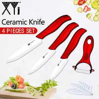 """XYj cuchillas de cerámica blanca de alta calidad utensilios de cocina cuchillos accesorios 3 """"Paring 4"""" utilidad 5 """"rebanado cuchillo pelador"""