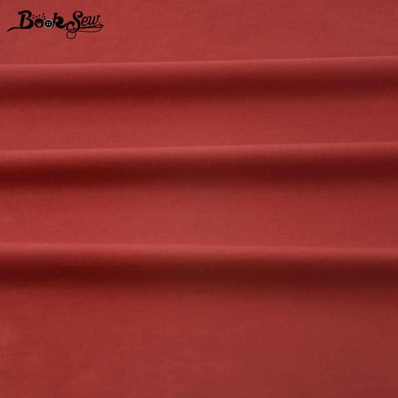 100% Kain Katun Lemak Quarter Patchwork Mulia Mawar Merah Solid Warna Quilting Tecido Rumah Tekstil Bahan Sprei