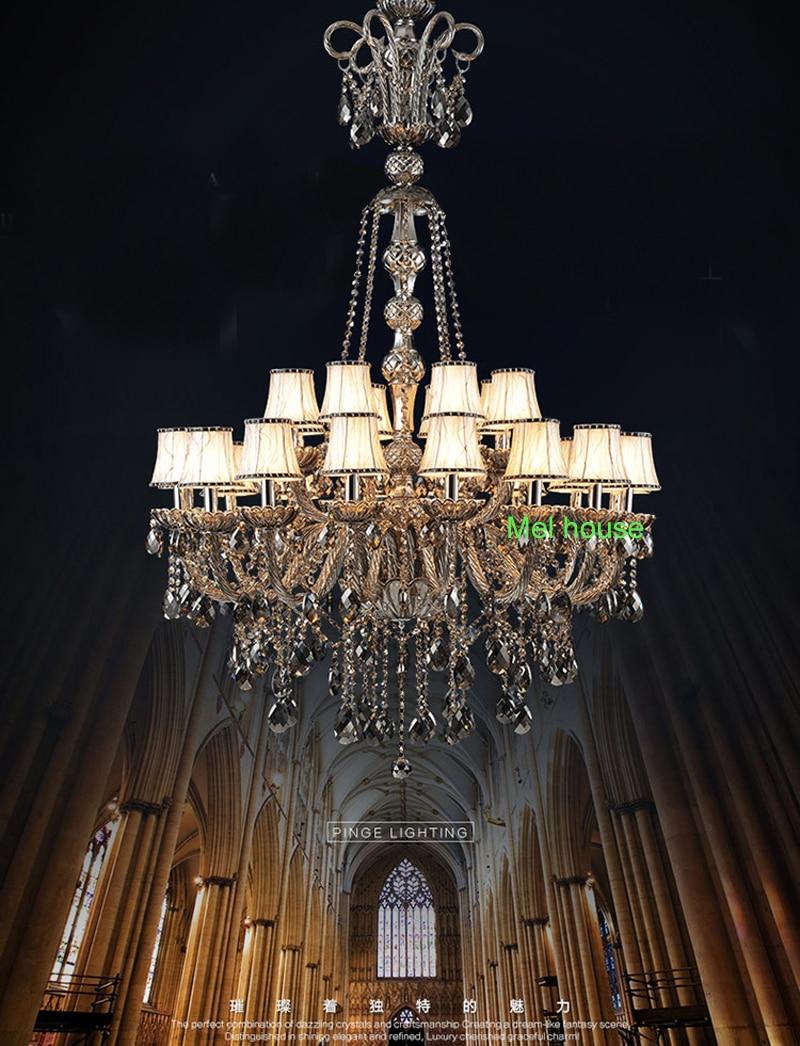 retro verlichting kroonluchters lamp Rook grijs kristallen - Binnenverlichting - Foto 6
