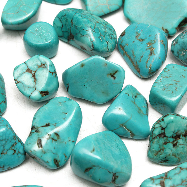 Blue Turquoise Stone Garden Pebbles Pack