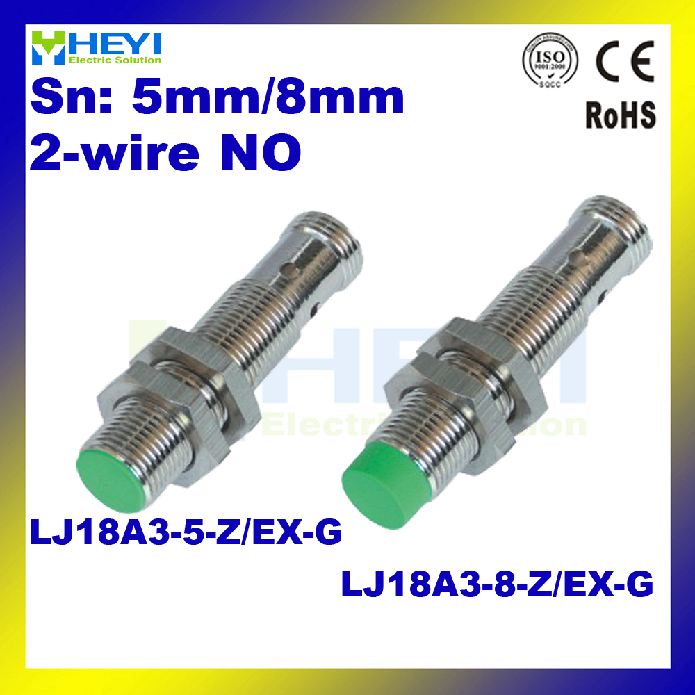 6-36VDC 2-wire NO NPN metal inductive proximity switch inductance sensor  LJ18A3-5-Z/EX-G LJ18A3-8-Z/EX-G