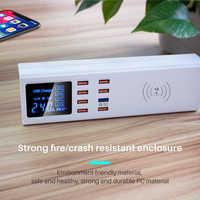 Qi carregador sem fio carga rápida 3.0 inteligente usb tipo c estação de carregamento hub carregador rápido adaptador para xiaomi samsung s10 iphone x
