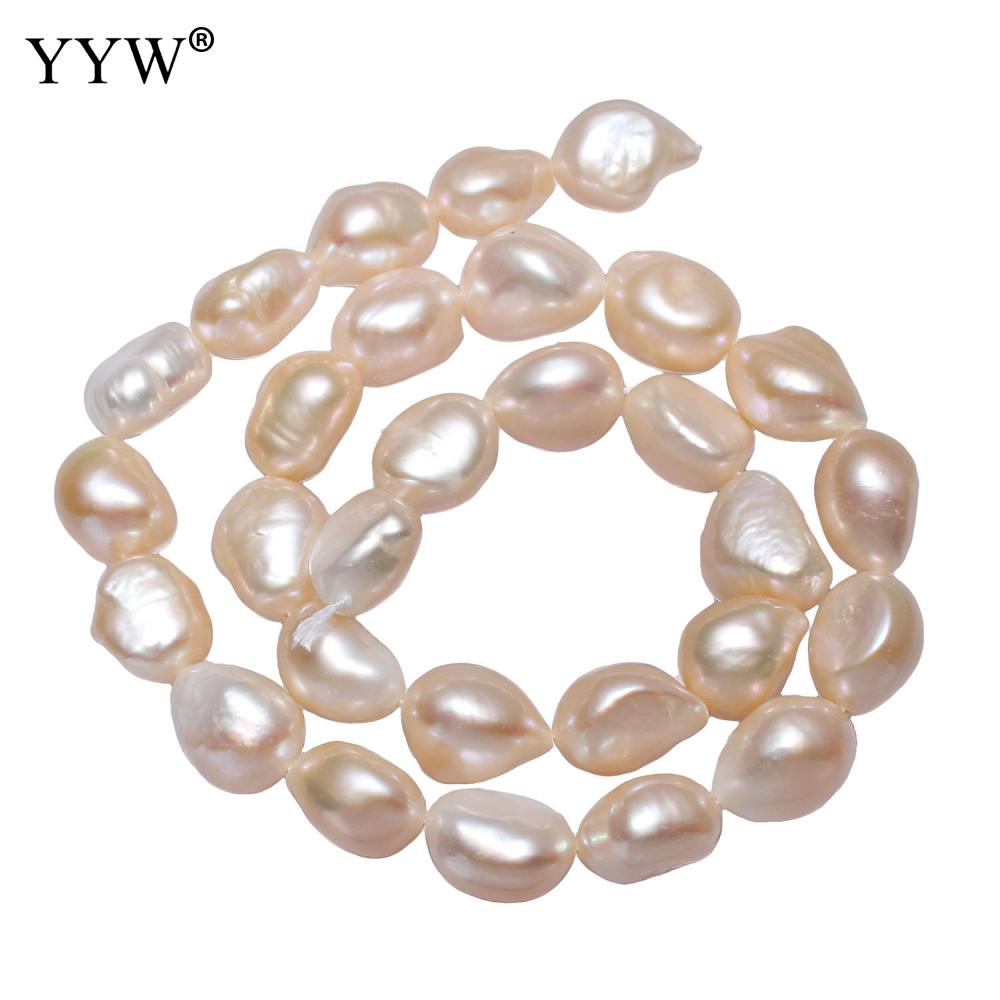 Cultured Potato Freshwater Pearl Beads 11-12mm Natural Loose For Women Men Jewelry Accessories