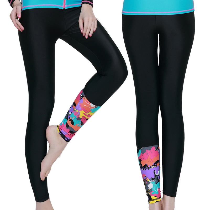 ff67183a31619 Fitness Running 2017 Yoga Lycra Women Printed Tights Pants Rash Guard Sun  Protected Snorkeling Swimming Spandex Leggings Pants-in Yoga Pants from  Sports ...