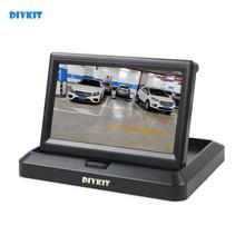 DIYKIT 800×480 5 дюймов складной TFT ЖК-монитор автомобиля заднего вида автомобиля монитор для камеры DVD VCR