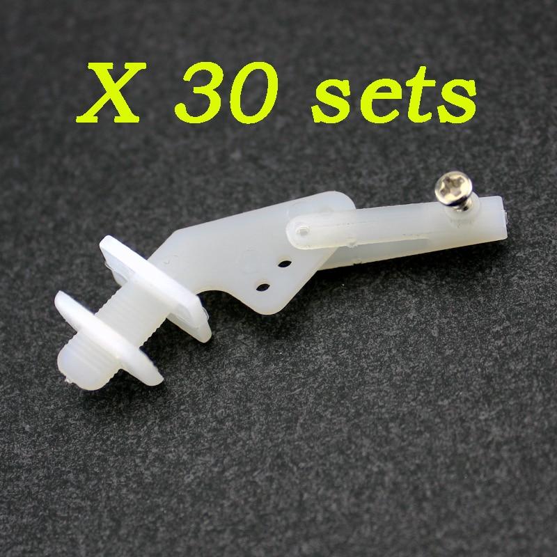 10 sets 20 sets 30 sets Medium Nylon Control Horn und Gabelkopf 21mm Set Rudder Servo Ailerons Aufzüge Für RC Festen Flügel Flugzeug