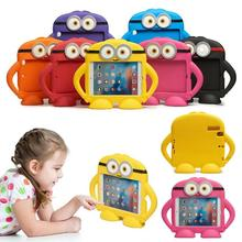 For ipad mini 4 Minions Tough Kids Childrens 3D Kids Cute Shockproof EVA Foam Stand Case Cover For ipad mini 1/2/3 7.9inch kids cover for ipad mini 5 case non toxic eva shockproof washable stand hand holder case for ipad mini 1 2 3 4 5 7 9 inch