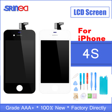 AAA+++ Quality  Display LCD For iPhone 4s 4 S LCD Screen Digitizer Display Assembly Screen LCD Replacement Screen Black White