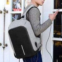 Men Multifunction USB Charging Backpacks Black Anti Theft Male Travel Bags 15 6 Business Laptop Bagpacks