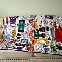 120x150 см ТВ Шоу друзья мягкий ковер центральный perk теплое одеяло сувенир диван Чехол