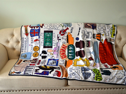 120x150cm TV  show Friends soft carpet central perk warm Blanket souvenir sofa cover