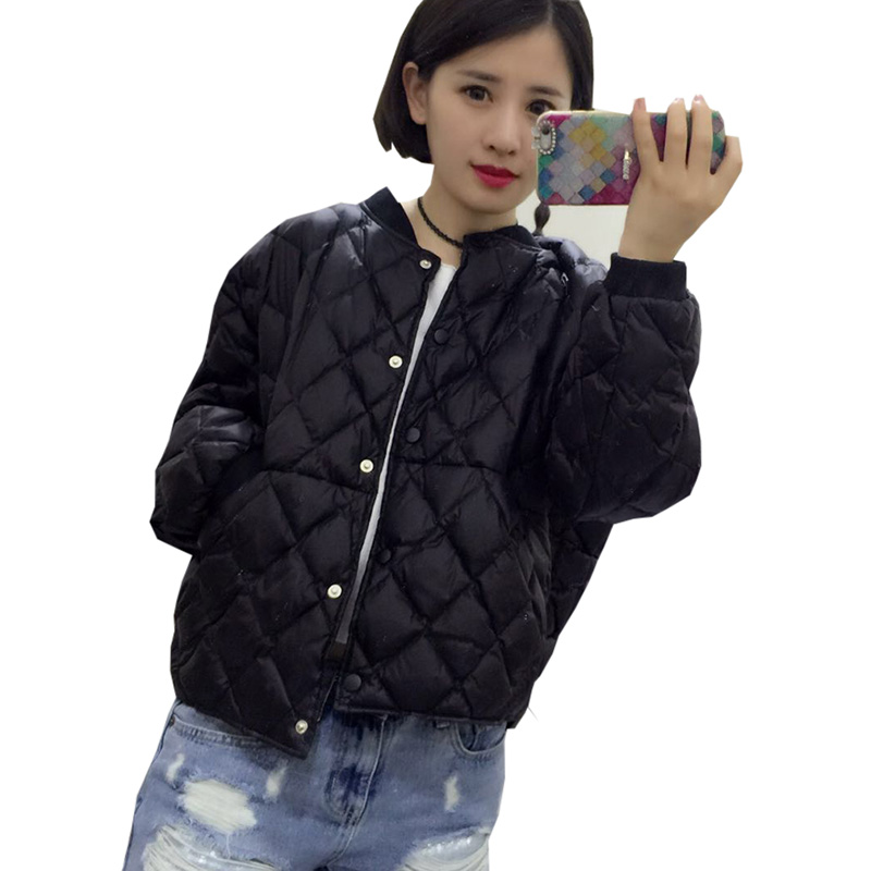 Ultra Light   Down     Coat   Women Short Loose O-neck 90% White Duck   Down   Female Jackets Autumn Winter Outwear Parkas Plus Size RE0137
