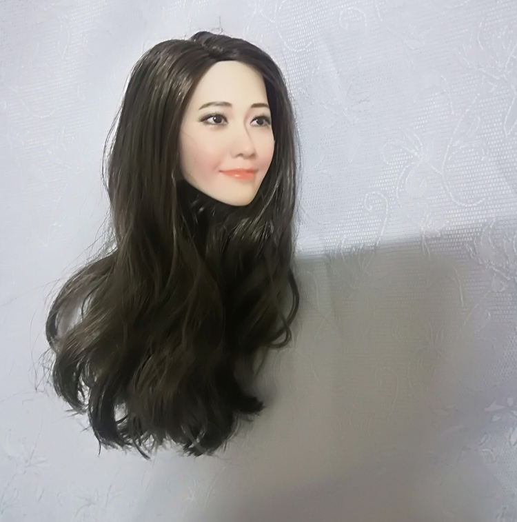 Image 4 - 1/6 Scale Korean Star Lim Yoona A Head Sculpt Female Head Sculpt Model Long Hair For 12 inch DIY PH UD JIAOU Doll Action FiguresAction & Toy Figures   -