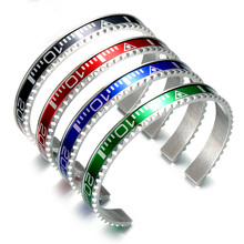 Free Shipping Italian Style Fashion Jewelry 316L Stainless Steel Couple bracelet Speedometer Official Bracelet Men BC-0012