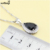 XUTAAYI Qualidade Top 925 de Prata Colar de Pingente de Conjuntos de Jóias Sapphire Black criado/Anéis/Brincos/Pulseira Para as mulheres