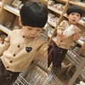 Male Children Of 1-2-3-4-5-6 Years Old Baby Sweater Knit Cotton Cardigan 2017 New Spring Tide