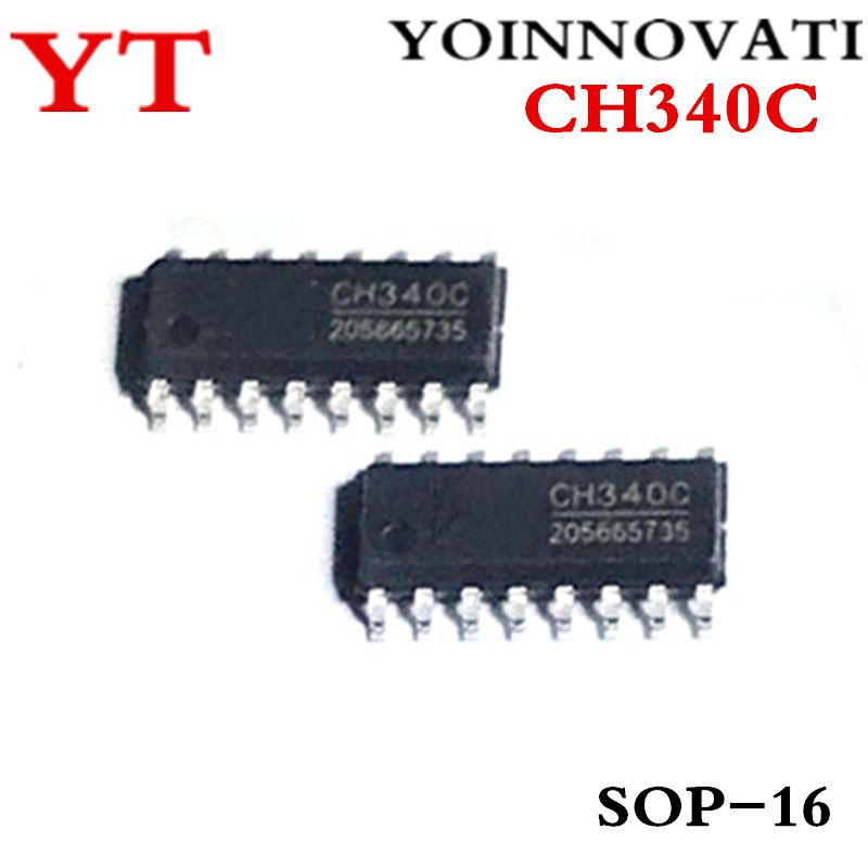 10pcs/lot CH340C CH340 SOP-16 IC Best Quality.