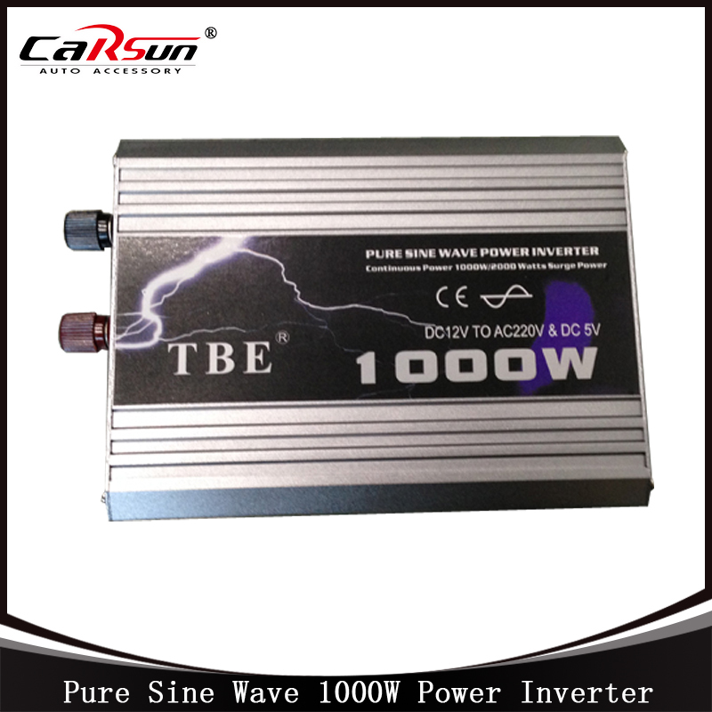DC12V to AC220V 1000W Pure Sine Wave Car Power Inverter Grid Tie Solar Inverter Power Inverter For Solar and Wind Hybrid 1500w grid tie power inverter 110v pure sine wave dc to ac solar power inverter mppt function 45v to 90v input high quality