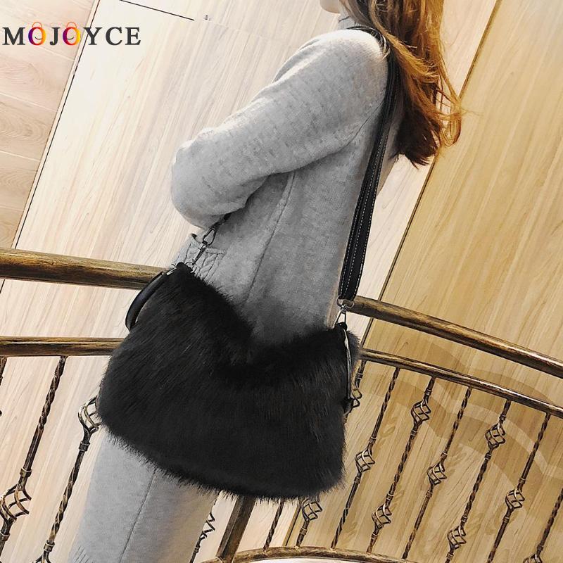 Luxury Brand Soft Faux Fur Women Lady Shoulder Bags Crossbody Messenger Handbags  Bolsos Mujer De Marca Famosa