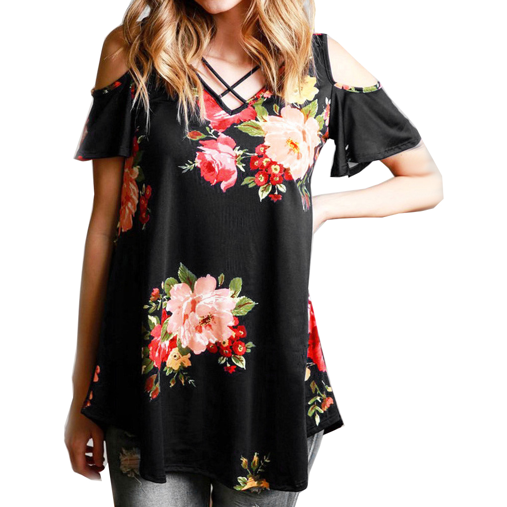 Women Blouses Shirts New Wild V-neck Long-sleeved Flower Print Jumpsuit Tops Blusas Mujer De Special Summer Sale Women's Clothing