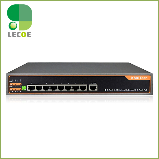 8 port IEEE802.3af/at PoE Switch/Adapter for CCTV Network POE IP Cameras System dh 8 ports poe switch standard 48v not burn the machine 250 meters transmit for security cameras and cctv ip system