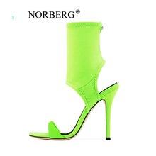 цены на 2019 new hot women Boots summer elastic fabric slim high heel shoes Gladiator style  sandals woman  в интернет-магазинах
