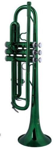 Laiton Bb trompette couleur verte adapté aux joueurs débutants par la musique orientale