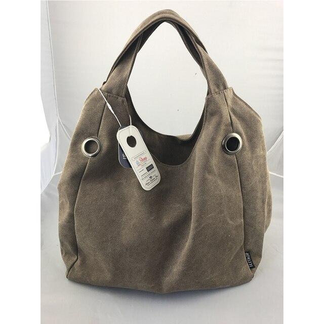 085c97d8dd Promotion 100% Real Photo Durable Handbags Canvas Bolsa Feminina Casual Big  Tote Women Bags Hobo Clutch Bag Vintage Sac Femme