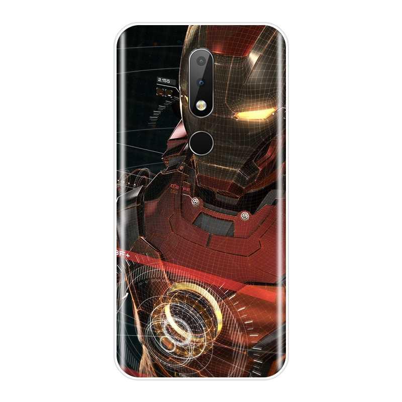 TPU Della Copertura Posteriore Per Nokia 2.1 3.1 5.1 6.1 7.1 Più Molle Del Silicone Supereroe Iron Man Cassa Del Telefono Per Nokia 7.1 6.1 5.1 3.1 2.1 Caso
