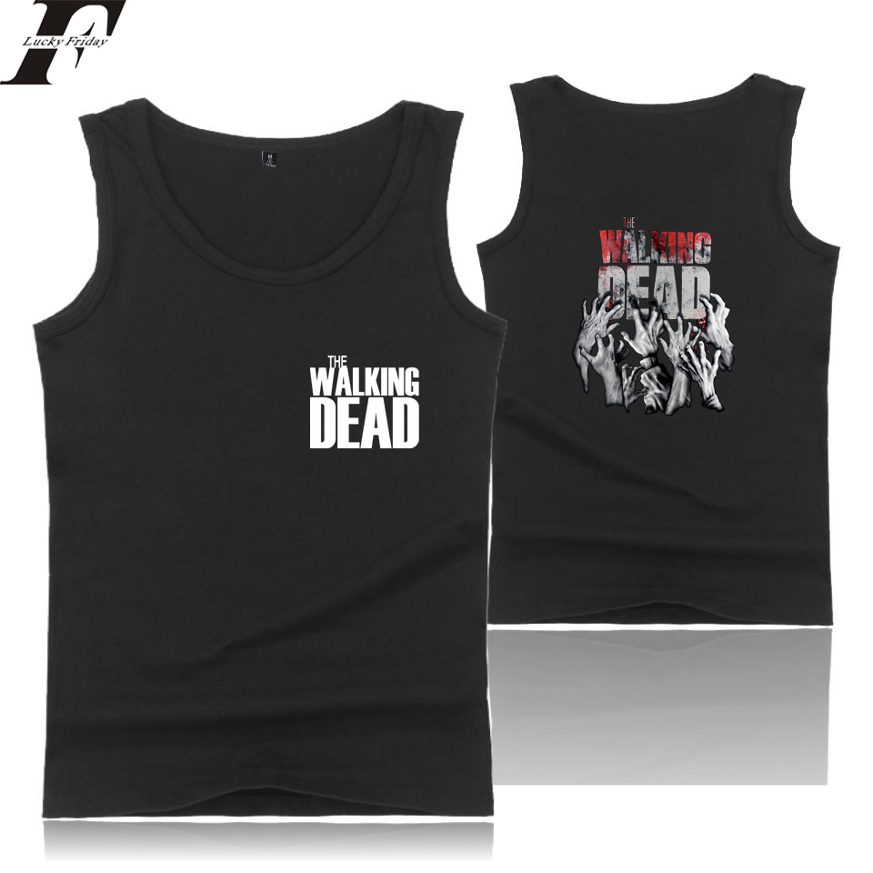 LUCKYFRIDAYF 2018 The Walking Dead   Tank     Tops   Men/Women Summer Sleeveless Workout Fashion   Tank     Top   Women/Men Fitness Casual Vests