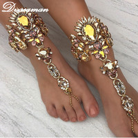 Dvacaman Ankle Bracelet Wedding Barefoot Sandals Beach Foot Jewelry Sexy Leg Chain Female Boho Crystal Anklet Accessories 6115