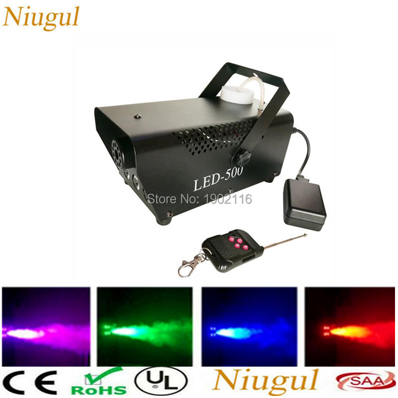 Wireless Remote Control LED 500W Smoke Machine/RGB Color Fog Machine/Professional Smoke Ejector/Stage DJ Equipments/LED Fogger