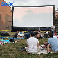 M016 BENAO Free shipping+ Air blower Low prices Outdoor advertising inflatable movie screen for advertising