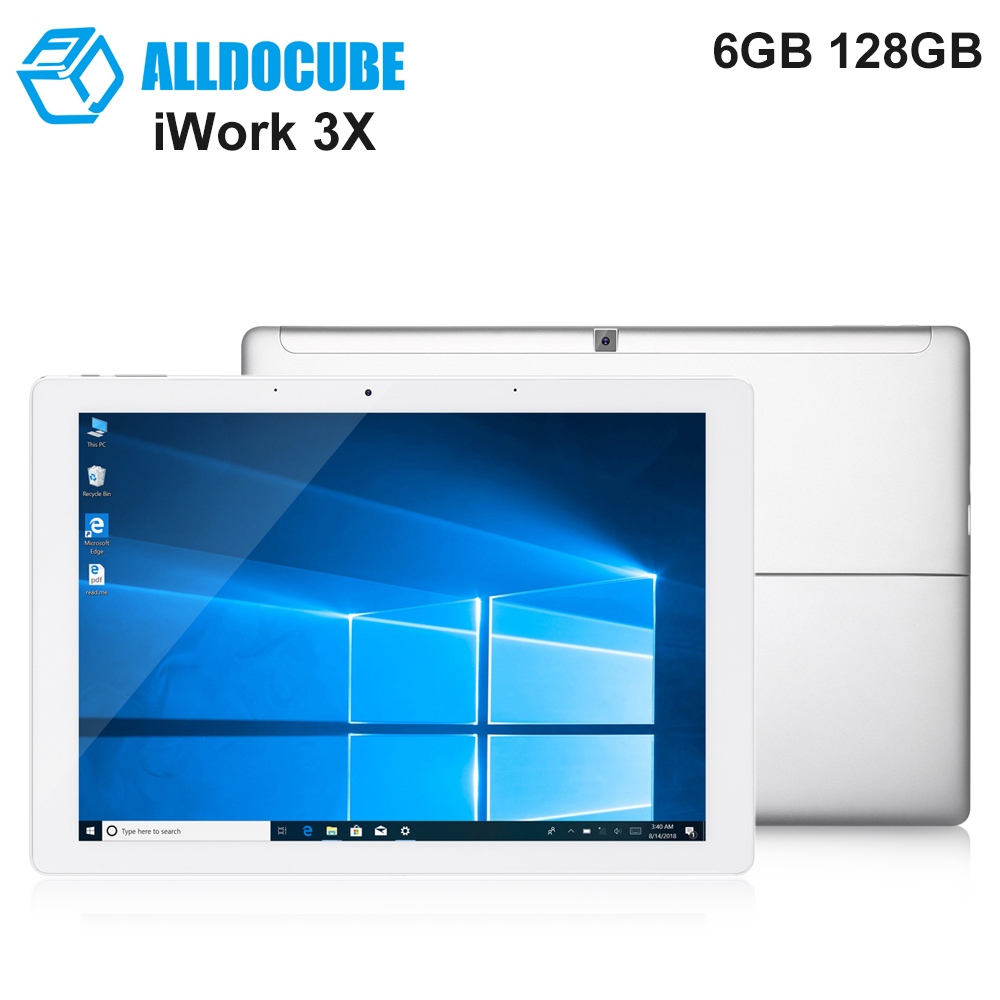 ALLDOCUBE iWork 3X 2 in 1 Tablet PC 12.3 inch Windows 10 Intel Apollo Lake N3450 Quad Core 2.2GHz 6GB 128GB HDMI Tablets jumper ezpad 6 6s pro 2 in 1 tablet 11 6 inch 1080p ips display tablet pc apollo lake n3450 6gb 64gb 128gb windows 10 tablets