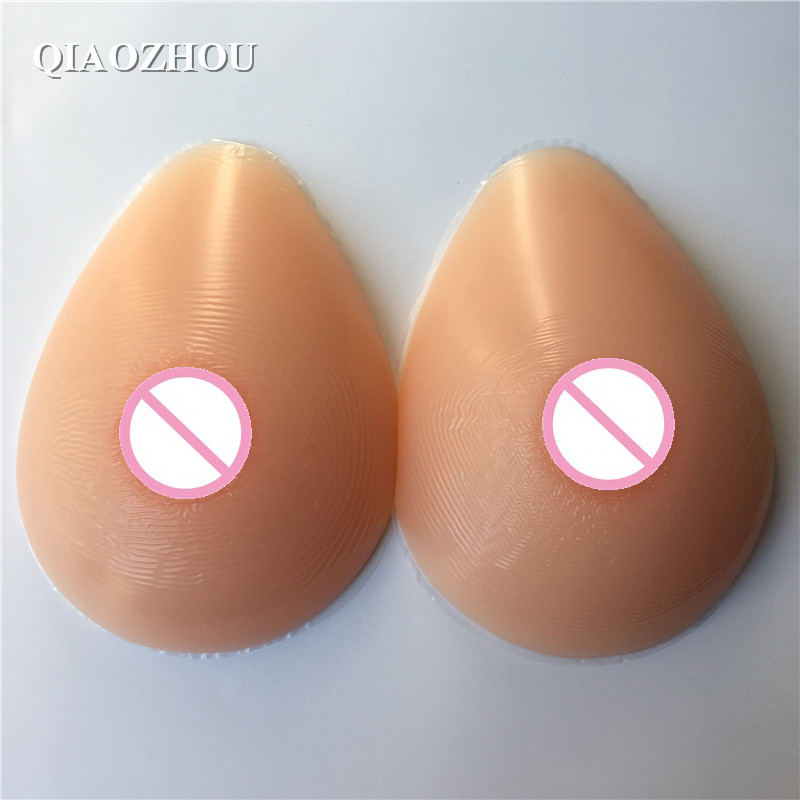 500 g/pair A cup transvestite boobs silicone fake breast forms 400g pair a cup 100