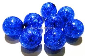 (Elija el tamaño) 10mm/12mm/16mm/20mm color azul real acrílico cuentas de grietas claras, cuentas gruesas coloridas para joyería de collar